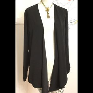 Kim Kardashian Black Front Wrap Light Jacket